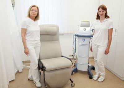 Der Raum für Blutabnahme und EKG